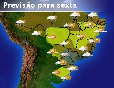 Condi��es de chuvas em boa parte do Norte, no norte do ...