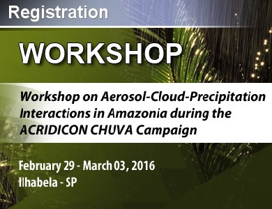 <div class=tt>WORKSHOP ON AEROSOL-CLOUD-PRECIPITATION INTERACTIONS IN AMAZONIA DURING THE ACRIDICON CHUVA CAMPAIGN<br></div>