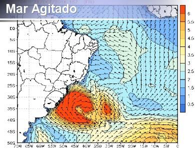 Mar ficar� muito agitado com alto risco de ressaca no L...