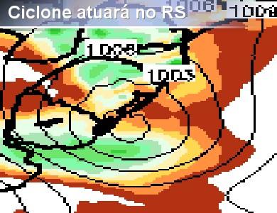 Presen�a de ciclone dever� causar chuva forte em parte ...