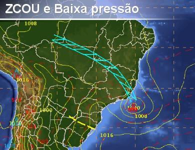 ZCOU e Sistema de baixa pressão favorecerão chuva para ...