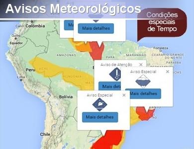 Nova visualiza��o dos Avisos Meteorol�gicos