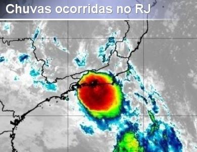 Fortes chuvas ocorridas no RJ na madrugada de quinta-fe...